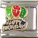 Happy Birthday Balloons Italian Charm