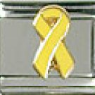 Yellow Glitter Ribbon Italian Charm