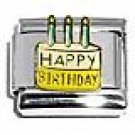 Happy Birthday Cake Italian Charm