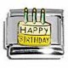 Happy Birthday Cake Italian Charm