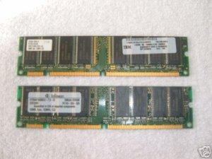 PC 133 128MB x 2 total 256MB 168 pin sdram