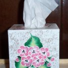 Pink Flowered Tissue Cover
