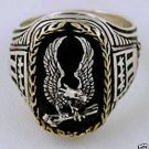 10Karat Gold Wreath American Eagle ring sterling silver