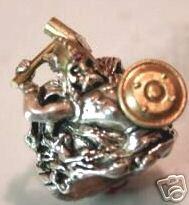 Thor Viking miniature Mens ring sterling silver