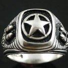 Texas Star Silver bullet Pistolero ring Sterling Silver