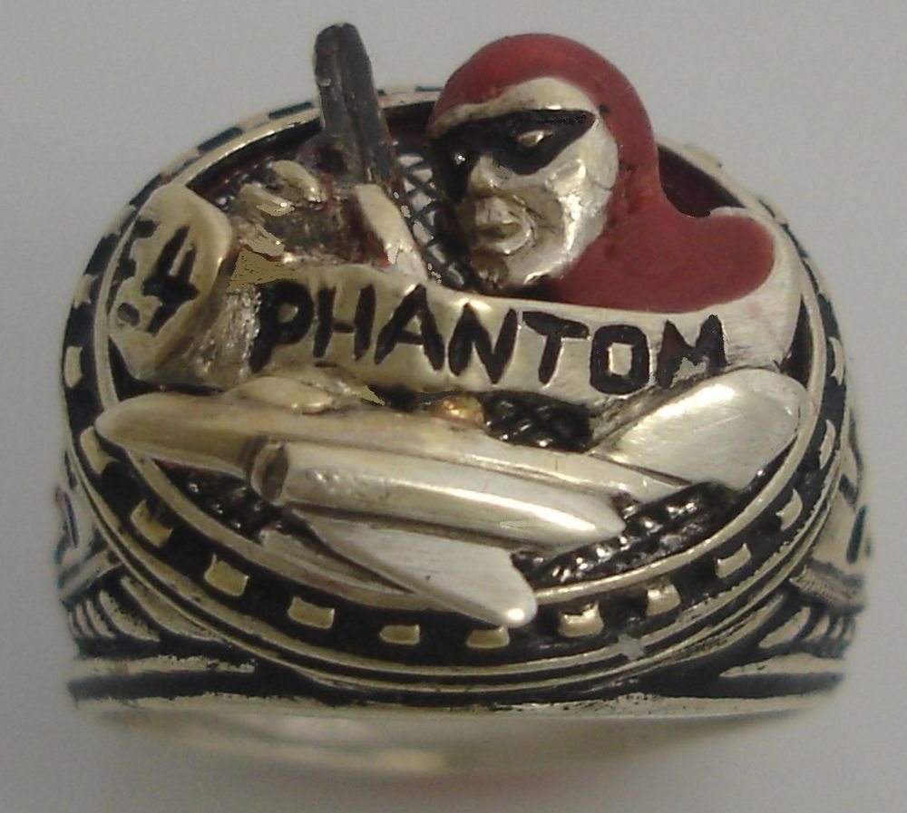 The F4 Phantom Lee Falk Mens Sterling Silver Ring