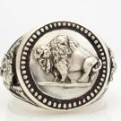 Buffalo Nickel Mens Coin ring sterling silver 925