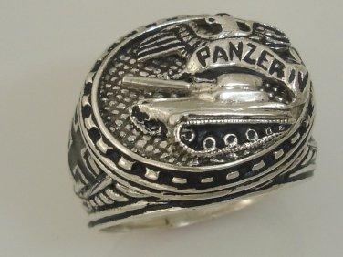 Heinz Guderian Panzer IV  Mens Tanker Sterling Silver Ring