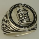 Kings Chess piece Mens Signet ring   Sterling Silver