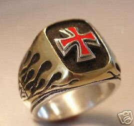 NORMAN Cross Flame ring   Sterling Silver