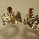 Egyptian Winged  Scarab ring     Sterling Silver Meduim