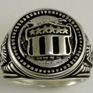Double Eagle  Sterling Silver Shield ring