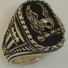 American Silver Eagle ring sterling silver