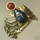 Egyptian18 Karat Gold Winged Scarab ring