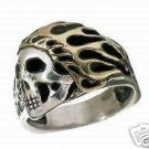Flamin Indian Motorcycle ring Sterling Silver
