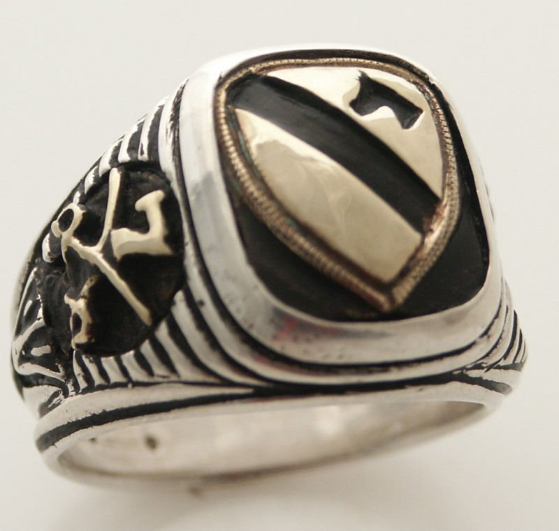 US Seventh Cavalry ring   Sterling Silver