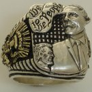 Barak Obama 10 karat gold Presidential eagle Ring Sterling Silver X-Large