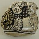 Barak Obama 10 karat gold Presidential eagle Ring Sterling Silver X-Large