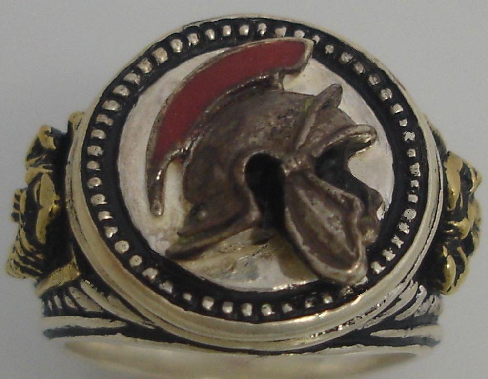 Praetorian Guard Helmet Mens Signet ring Sterling Silver