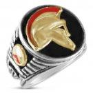 SPARTAN Helmet Mens Signet ring   Sterling Silver Lge.