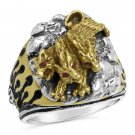 Cerberus  Three Headed Hades Hellhound Guardian Ring Sterling silver Lge