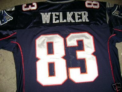 WES WELKER Blue Home Patriots authentic NFL jersey 50 L