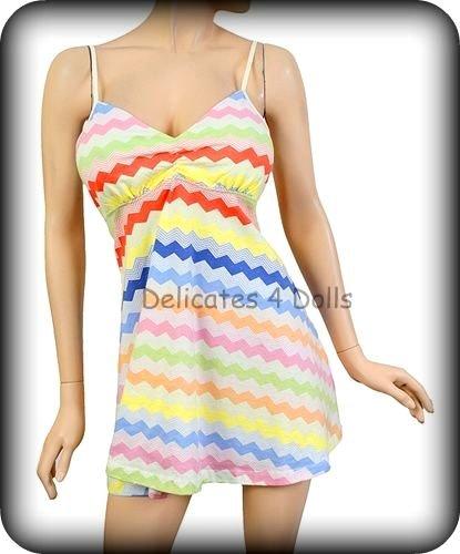 Forever 21 Rainbow Mini Sun Dress