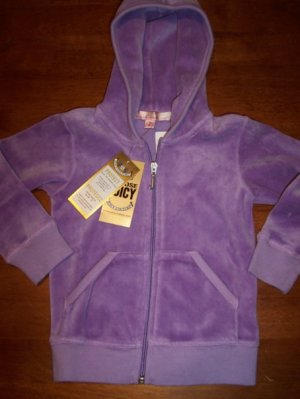 Juicy Couture NWT Toddler Girls Hoodie Jacket Size 2