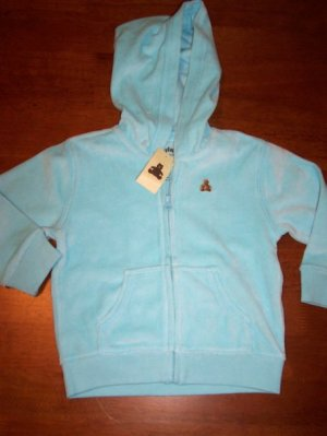 GAP Infant Girls NWT Velour Hoodie Size 12-18 months