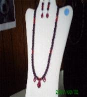 Red Hat Necklace and Earring Set