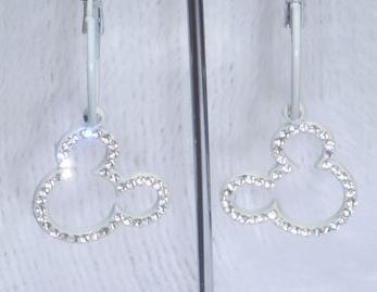 Diamond MickyMouse Earring