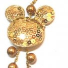 Gold MickyMouse Cell Phone Chain