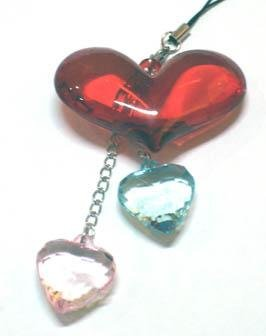 3 Hearts Cell Phone Chain