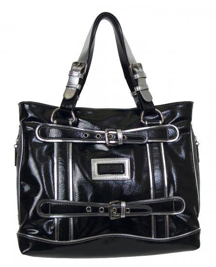 BLACK SILVER SHOULDER BAG