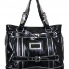 BLACK SILVER SHOULDER BAG