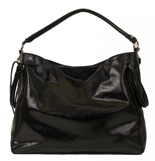 BLACK PU HANDBAG