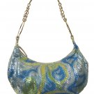 BLUE SEQUIN FASHION HANDBAG