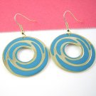 Blue Circle Earring