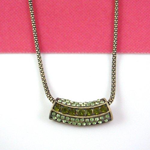 Green Crystal Greece Designed Pendant