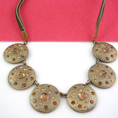 Greece Style Brown Crystal Fashion Necklace