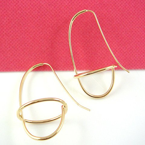 Gold Fashion Design Earring