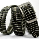 Men's Black Leather Belt w/Waxed Cord Lacing - Sz 40