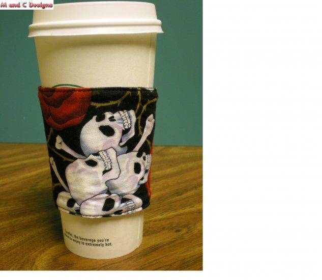 Skull print Coffee Cozy