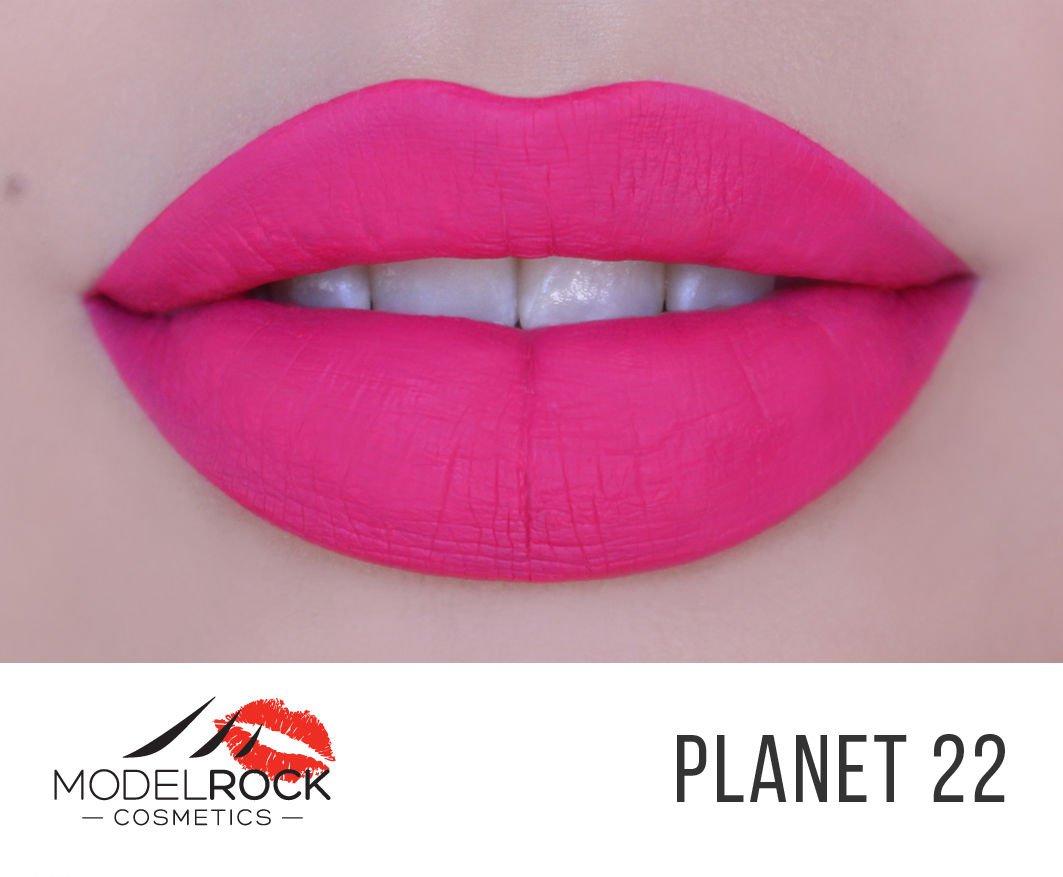 Model Rock Vegan Matte Pink Liquid Lipstick - Planet 22 Pink Velvet