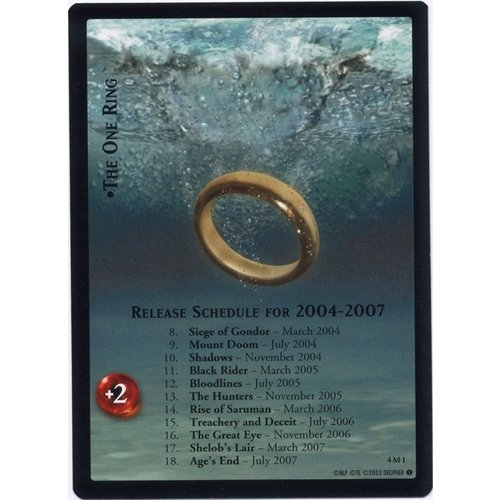 4M1 - The One Ring - Reg. Size Release Schedule - Promo