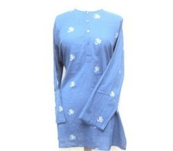 Kurta with OM Design - Blue Large