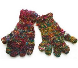 Recycled Silk Gloves from Nepal