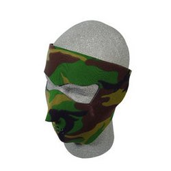 Cold Weather Headwear Neoprene Face Mask - Woodland Camouflage