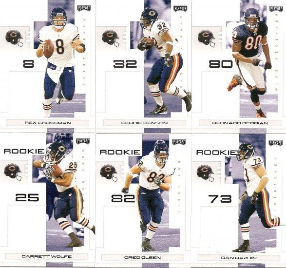 2007 Chicago Bears NFL Playoffs Team Set