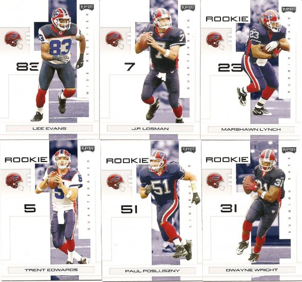2007 Buffalo Bills NFL Playoffs Team Set